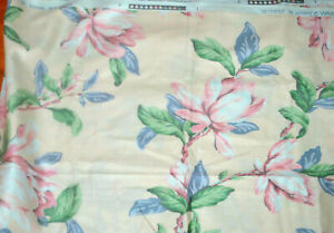 """Waverly Metropole Fabric Florals All That Jazz Mauve Blue Pink 2 1/3 yds x 54"""" w"""