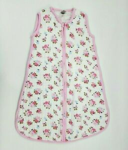 Luvable Friends 0-6 Months Muslin Cotton Baby Sleep Bag Sack Girl Floral B350