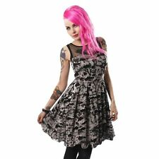 * Poizen Industries Kalista Dress Ladies Black Goth Emo Punk Size 10-12 *