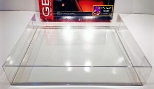 1 Console Box Protector For Most SEGA GENESIS Model 2  (CHECK SIZE)  Clear Boxes