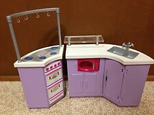 Barbie Fashion Fever Purple Kitchen Refrigerator Microwave Furniture Playset