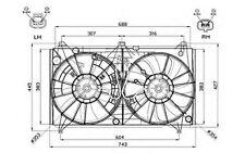NRF Ventilador, refrigeración del motor LEXUS LS GS 47567