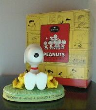 "Peanuts Snoopy "" A Friendly Shoulder "" Hallmark Gallery Figurine Nice"