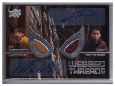 2017 Marvel SPIDER-MAN Homecoming MARTIN STARR/TONY REVOLORI Webbed Threads AUTO