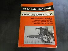 Deutz Allis Gleaner Headers Operator's Manual