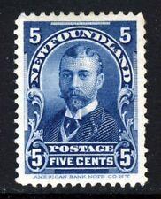 NEWFOUNDLAND CANADA Queen Victoria 1899 5 Cents Blue SG 90 MNG