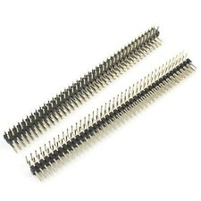 10PCS 2*40P 40Pin Double Row Right Angle Male Pin Header Strip 2.54mm Pitch