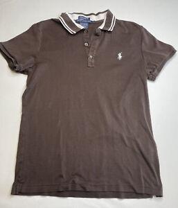 Women's Taliored Golf Fit Polo Shirt- Ralph Lauren- Brown, Size L