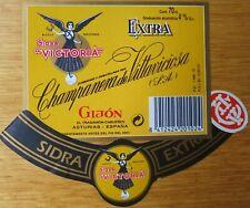 Etiquetas vinos SIDRA  ASTURIANA  VICTORIA   Asturias ESPAÑA  Labels wine