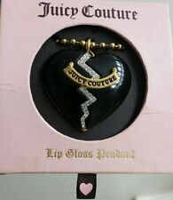 MAKE OFFER》Juicy Couture Broken Heart Mirror Lip Gloss Locket Pendant Necklace