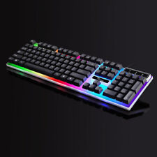 Gaming Tastatur RGB USB PC Keyboard LED Hintergrundbeleuchtung Multi Key