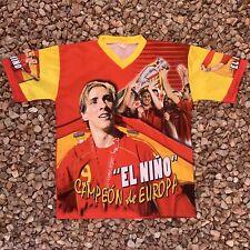 Fernando Torres All Over Print Soccer Jersey Futbol Sz XL Made In Italy