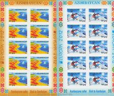EUROPA CEPT 2012 BESUCHE VISIT - ASERBAIDSCHAN AZERBAIJAN 915-16 A KLEINBOGEN **