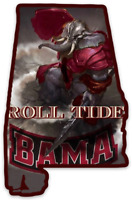 "Alabama Crimson Tide ""Shape of Alabama-Big AL Warrior w/ Roll Tide"" Type MAGNET"