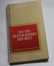 1981  Philip Morris  Cookbook manual bar cocktail alcohol   recipe Germany