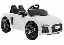 Audi R8 Spyder Kinder Auto Kinder Elektroauto Kinderfahrzeug 12V Ledersitz Weiß