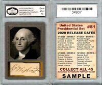 George Washington United States Presidential ACEO Sample Card Graded 10