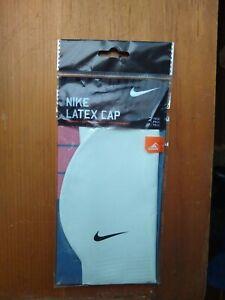 New   Nike SWOOSH  Adult Latex Swim Cap  White