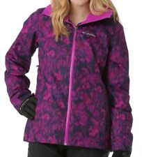 Columbia WHIRLIBIRD Interchange 3-in-1 Jacket Bright PLUM FLORAL Womens L New