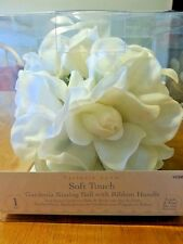 Gardenia Kissing Ball With Ribbon Handle Weddings Flower Girl Bouquet BV