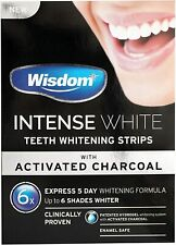 Wisdom Intense White Teeth Whitening Strips with ACTIVATED CHARCOAL 7 day supply