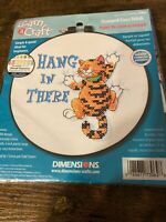 """Dimensions Learn A Craft """"Hang In There"""" Stamped Cross Stitch Kit #73062 6"""" x 6"""""""