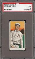 1909-11 T206 Billy Maloney Piedmont 350 Rochester PSA 3 VG