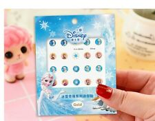 Gold Edging Frozen Kids Nail Art Stickers Decal Birthday Party Favours