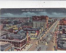 Canal Street New Orleans Curt Teich Postcard Unused VGC