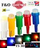 upto 10X T5 W3W W1.2W Super Bright 3D COB Led Wedge Gauge Dashboard Lamps 12V