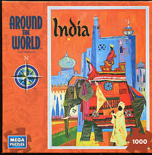 Mega Brand Around The World 1000 Pc Puzzle India New in Box