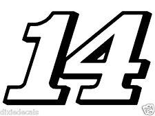"12"" x 18.5"" Tony Stewart Clint Boyer Number 14 Window Decal Vinyl Sticker 2color"
