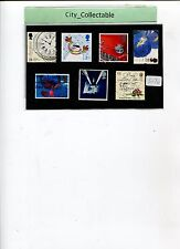 7 PCS USED STAMPS -  ENGLAND # S170