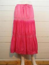 "BOBBIE BROOKS Skirt Pink Cotton Peasant Tiered LINED Long Sz M -W29-34"" x L34"""