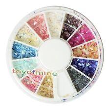 Glitter zerdrückt Shell Nail Art Tipps Dekoration Wheel