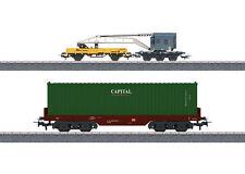 Märklin H0 44452 Wagenset Containerverladung 3-tlg. mit Kranwagen OVP