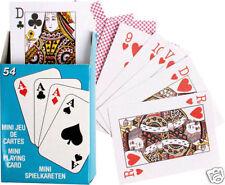 Lot x2 Mini Jeux de 54 Cartes 5,5 x 4 x 1 cm NEUF Playing Cards