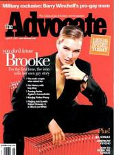 THE ADVOCATE GAY & LESBIAN MAGAZINE -BROOKE SHIELDS COVER - AMERICAN PSYCHO 2000