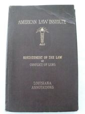 1937 Restatement of the Law of Conflict of Laws, Louisiana, Pioneer Woman Author