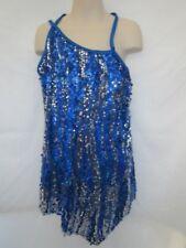 Navy Blue Silver Sequin Dress Jazz MT Dance Costume Medium Child MC