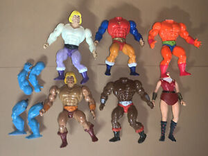 Vintage Masters of the Universe Custom Fodder Parts Lot MOTU He-Man 5.5 Figures