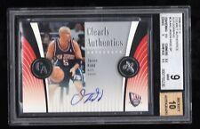 2006-07 Fleer E-X Clearly Authentics Autographs Jason Kidd SP BGS 9 Auto 10