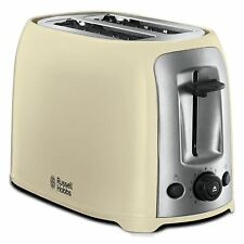 Russell Hobbs Darwin 2-Slice Toaster with Defrost & Variable Heat 23863 - Cream
