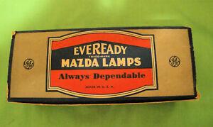 1920 30 40 50 Ford Chevy Packard Cadillac Eveready MAZDA 1184 Light Bulb 6V