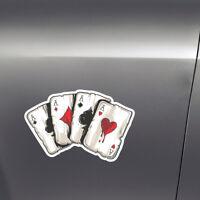 Playing Cards A Car/Van/Truck/Bumper/Window/Trunk PET Graphics Decal Sticker