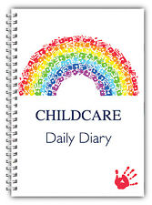 A5 DAILY DIARY CHILDCARE/EYFS/LOG BOOK/DAILY RECORD RING BOUND RB HANDPRINT