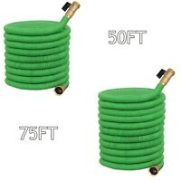 Premium Retractable Water Garden Hose Up to 50/75 Foot High Pressure Pipe