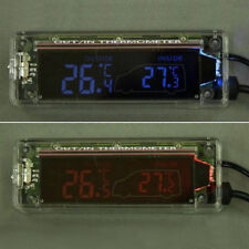 Digital LCD Transparent In and Out Car Thermometer