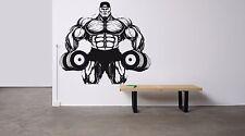 Wall Decor Vinyl Sticker Mural Decal Bodybuilding Gym Crossfit Muscles FI1161