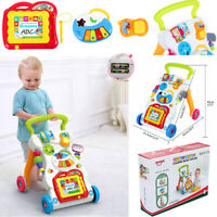 Baby Activity Walker First Steps Bouncer Musical Toys Push Along Ride On Go 2in1